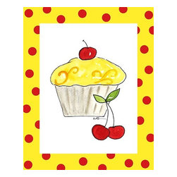 Oh How Cute Kids by Serena Bowman - Lemon Cupcake, Ready To Hang Canvas Kid's Wall Decor, 8 X 10 - Each kid is unique in his/her own way, so why shouldn't their wall decor be as well! With our extensive selection of canvas wall art for kids, from princesses to spaceships, from cowboys to traveling girls, we'll help you find that perfect piece for your special one.  Or you can fill the entire room with our imaginative art; every canvas is part of a coordinated series, an easy way to provide a complete and unified look for any room.