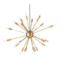 Design Within Reach - Satellite Chandelier   Design Within Reach - Space travel itself had a huge influence on interior design. The Satellite Chandelier was inspired by Sputnik, which was launched in 1957. There are numerous designs based on this shape, but this one is still my favorite.