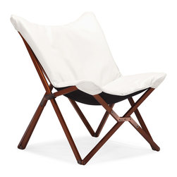 Zuo Modern - Draper Lounge Chair White - Curl up in perfect comfort with our Draper lounge chair. The Draper is wrapped in a soft luxurious leatherette on top a wooden collapsible base. Comes in white or black.