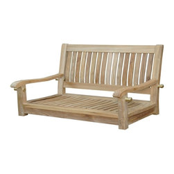 "Anderson Teak - Del-Amo 48"" Straight Swing Bench - The Del-Amo 48"" porch teak swing bench is now available for your comfort. Designed and constructed from premium grade solid teakwood for long lasting, strength and beauty. Place the swing bench under the big tree or your porch. It will amazed your family and friends. Cushion made of Sunbrella fabric optional for more comfort. Cushion is optional and is being made by order."