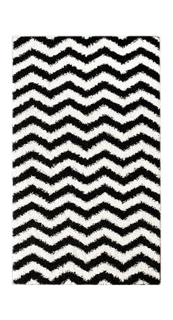 Nuloom - nuLOOM Luna Black and White Chevron Shag Rug (4' x 6') - Soft and plush, this NuLOOM shag rug features a bold black and white chevron pattern. The construction of this fun and fashionable area rug is sturdy and will stand the test of time.