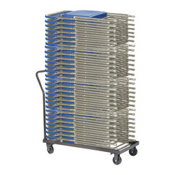 National Public Seating - National Public Seating Strap for DY800 Dolly Transport Storage Accessories - Stack nearly an entire room of folding chairs on NPS's Dolly for 800 Series Folding Chairs. This 11-gauge steel truck holds and transports up to 36 folding chairs. The four-inch casters (two swivel, two fixed) make it easy to move anywhere in your school or facility. Select the optional safety strap to keep your chairs secure and in place during transport.