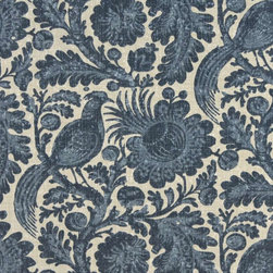 Blue And Beige Floral Abstract Indoor Outdoor Upholstery Fabric By The Yard - This upholstery grade fabric can be used for all indoor and outdoor applications. It is Scotchgarded, and is mildew, fade, water, and bacteria resistant. This fabric is made in America!