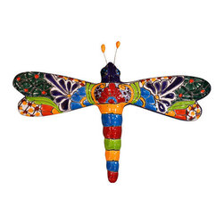 Dragon Fly, Medium - Colorful piece of art for embellishing any spot. Picture in Multicolor.