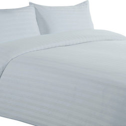 """Lasin Bedding - Cal King / King Size 100% Cotton Sheet Sets, Blue, Cal King, Stripe, 102"""" X 86"""" - Made of 100% high quality cotton, our bedding sets are soft and comfortable, just the way you need for a good night sleep. Our 5 star """"Hotel Collection"""" bedding sets includes one fitted sheet, one duvet cover and two pillow cases. Go classy with Lasin Bedding."""
