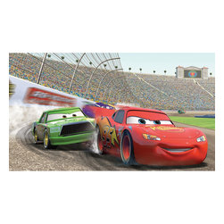York Wallcoverings - Disney Cars Lightning McQueen Prepasted Large Accent Mural - FEATURES:
