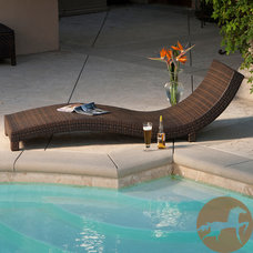 Contemporary Outdoor Chaise Lounges by Overstock.com