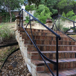 Custom Iron Railing - Custom iron railing, drawn by the customer on paper, put into CAD by us, and fabricated