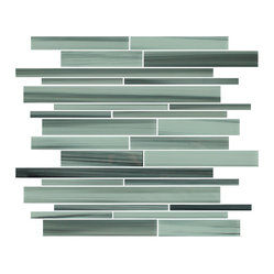 Rocky Point Tile - Surfz Up Linear Glass Mosaic Tiles - Linear glass tiles are the perfect choice for your modern home. Whether you're just adding a shower accent or you're tiling your fireplace, the cool and soothing ocean colors in this palette will bring tranquility and style to your home in no time.