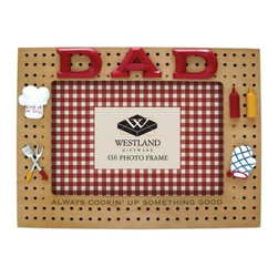 WL - 4 x 6 Inch Dad Always Cooking Good BBQ Decorated Resin Photo Frame - This gorgeous 4 x 6 Inch Dad Always Cooking Good BBQ Decorated Resin Photo Frame has the finest details and highest quality you will find anywhere! 4 x 6 Inch Dad Always Cooking Good BBQ Decorated Resin Photo Frame is truly remarkable.