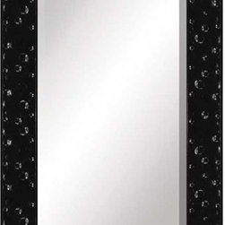 Paragon Decor - Seeing Spots Rectangle - A glossy black finish highlights contemporary embossing.