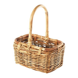 Eco Displayware - Small 2-Bottle Wine Rattan Basket in Natural - Great for closet, bath, pantry, office or toy and game storage. Earth friendly. 10 in. L x 8 in. W x 14 in. H (4.07 lbs.)These natural colored baskets add warmth and charm and keep you organized.