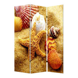 Seashell Screen - Summers at the beach can be an everyday happening with this screen panel. Seashells and starfish are your daily reminder that life really can be a beach.