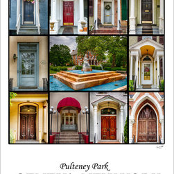 Stomping Grounds - Doors Of Pulteney Park - Our Giclee reproductions images are printed with premium archival paper and inks, delivering the highest quality prints. Our framed prints are done in Larson Juhl's Dresden line which is PEFC green certified. This frame has a deep brown espresso colored textured finish that is almost black in appearance. Sizes for prints refer to image size. If selecting just a print, the image will come with a 1 inch border around the image. If selected a framed image the size is the external dimensions of the frame. Framed pieces are glazed with TruVue Museum Glass for the very best display and UV protection. Framed pieces can be matted with one of 8 different mat colors, or can be framed with no mat, with the image going to the edge of the frame.