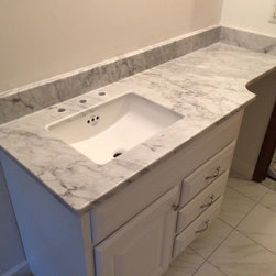 Vanity Tops & Tub Surrounds - Product: White Carrera Marble 3CM