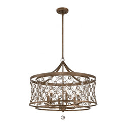 PHX Metal and Crystal 8 Lights Chandelier  11570 -