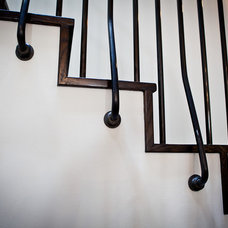 Traditional Staircase by Marsh and Clark Design