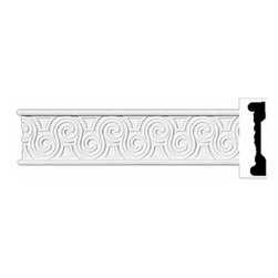 "Renovators Supply - Crown Moldings White Urethane Crown Molding - Ornate | 11617 - Crown Moldings: Made of virtually indestructible high-density urethane our crown molding is cast from steel molds guaranteeing the highest quality on the market. High-precision steel molds provide a higher quality pattern consistency, design clarity and overall strength and durability. Lightweight they are easily installed with no special skills. Unlike plaster or wood urethane is resistant to cracking, warping or peeling.  Factory-primed our crown molding is ready for finishing.  Measures 95"" x 2"""