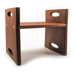 Modern Kids Step Stool, Organic Walnut by Little Sapling Toys - You need this stunning step stool simply because the kids are still short, and if you don't give them something to use to reach taller things, they will improvise.