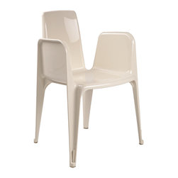 Control Brand - The Magnus Arm Chair - The Magnus Arm Chair is made from a strong ABS plastic. This chair is suitable for indoor and outdoor usage. No Assembly Required