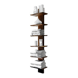 WETSTYLE - M Collection Towel Holder 60'' - M Collection Towel Holder available in 32'' or 60'' height. Offered in several Oak and Walnut finishes.