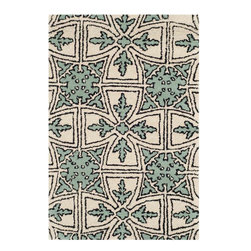 Safavieh - Addison Hand Tufted Rug, Light Blue / Ivory 2' X 3' - Construction Method: Hand Tufted. Country of Origin: India. Care Instructions: Vacuum Regularly To Prevent Dust And Crumbs From Settling Into The Roots Of The Fibers. Avoid Direct And Continuous Exposure To Sunlight. Use Rug Protectors Under The Legs Of Heavy Furniture To Avoid Flattening Piles. Do Not Pull Loose Ends; Clip Them With Scissors To Remove. Turn Carpet Occasionally To Equalize Wear. Remove Spills Immediately. A timeless quatrefoil motif makes a global design statement in the subtle but sophisticated Desai area rug. These stunning hand-tufted wool rugs are crafted in India to recreate the elegant look of hand-knotted carpets for today's lifestyle interiors.