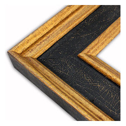 The Frame Guys - Wide Manchester Black/Gold Picture Frame-Solid Wood-10x20 - *Wide Manchester Black/Gold Picture Frame-Solid Wood-10x20