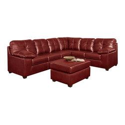 Chelsea Home Furniture - Chelsea Home Tamera 2-Piece Sectional in Ty Red - Tamera 2-Piece Sectional in Ty Red belongs to the Chelsea Home Furniture collection