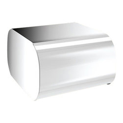 Gedy - Round Chrome Toilet Paper Dispenser With Cover - Complete your trendy master bath with this designer toilet roll holder from Gedy. This contemporary & modern, high-quality toilet paper holder is made in and imported from Italy with brass and available in chrome. From the Gedy Outline collection. Contemporary & modern toilet roll holder made of brass. Coated with chromed. Part of the Gedy Outline collection. Made in and imported from Italy. Designer, trendy toilet paper holder.