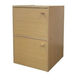 ORE International - 2 Door Storage Cabinet in Natural Finish - 2 Door cabinet. Wooden knobs. Scratch-resistant surface. Unique small bookshelf. Simple modern design. Made from rubber wood. 16.5 in. W x 12 in. D x 24 in. H (24 lbs.)Perfect for craft supplies, off season clothing items, seasonal decorations and more. Versatile way to add extra storage in any room of your home.