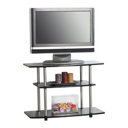 Convenience Concepts - Convenience Concepts 3 Tier TV Stand X-020131 - The Modern Design of the 3 Tier TV Stand will complete the look of any contemporary home. The 131020 TV Stand is perfect for all audio and video components.