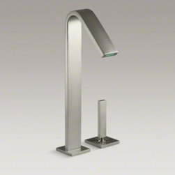 KOHLER - KOHLER Loure(R) single-handle bathroom sink faucet wit lever handle - Combining a sleek profile with enhanced utility, Loure introduces a classically modern look to your bath decor. This strikingly contemporary sink faucet offers a stately design with clean, smooth lines. The tall height works well with vessel-style sinks,