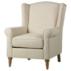 Collins Wingback Chair - Arm Chairs - Living Room - Furniture | HomeDecorators.c