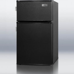"Summit - CP-35BLL 19"" 2.9 cu. ft. Top-Mount Compact Refrigerator with Zero Degree Freezer - SUMMIT CP35BLL puts the most advanced energy efficient refrigerator-freezer technology into an ENERGY STAR listed two-door compact unit with a uniquely thin 19 width and jet black exterior Cycle defrost provides automatic defrost of the refrigerator ..."