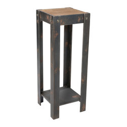 Moe's Home Collection - Moe's Home Bolt Plant Stand in Natural - Industrial style plant/Statue stand.