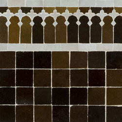 """Medina Terra Cotta Mosaic Tile -  Ann Sacks Tile & Stone - The art of mosaic in Morocco is called """"Zillij,"""" and this is as about as perfect as it gets. Authentic and gorgeous. This can be used in a kitchen or bathroom, and depending on whether you want an exotic feel, skip the border and just do the mosaic."""