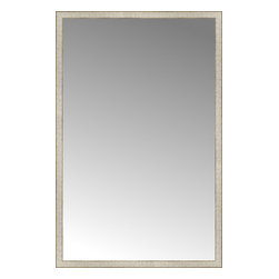 "Posters 2 Prints, LLC - 46"" x 71"" Libretto Antique Silver Custom Framed Mirror - 46"" x 71"" Custom Framed Mirror made by Posters 2 Prints. Standard glass with unrivaled selection of crafted mirror frames.  Protected with category II safety backing to keep glass fragments together should the mirror be accidentally broken.  Safe arrival guaranteed.  Made in the United States of America"