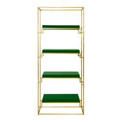 worlds away - Worlds Away Shadow Lacquer Shelves, Green - Worlds Away Shadow Green Lacquer Shelves