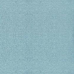 Color Sisal Twill Wallpaper, Turquoise, Bolt - • Vinyl Covered Paper