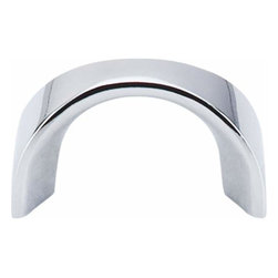 Top Knobs - Top Knobs: U - Pull 1 1/4 Inch (C-C) - Polished Chrome - Top Knobs: U - Pull 1 1/4 Inch (C-C) - Polished Chrome