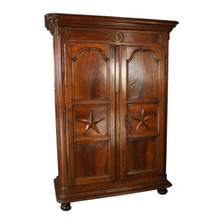 EuroLux Home - Louis XIV Period Armoire 1710 Walnut - Product Details
