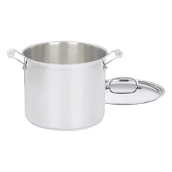 Cuisinart - Cuisinart Chef's Classic Stainless Steel 12-Quart Stockpot - Brilliant stainless steel finish for a classic look and professional performance