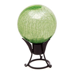 "Achla - Garden Gazing Balls - Light Green (6 in.) - Choose Size: 6 in.The ethereal beauty of this Light Green Garden gazing ball will add a note of class and distinction to your backyard sanctuary.  Available in 6"", 10"" or 12"" diameters, this stunning Gazing Globe will be the focal point of your garden. * The ethereal beauty of this Light Green Garden gazing ball will add a note of class and distinction to your backyard sanctuary. Available in 6"", 10"" or 12"" diameters, this stunning Gazing Globe will be the focal point of your garden. Shown w 7.5 in. Stand, not included"