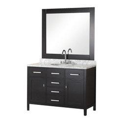 "Design Element - Design Element DEC076C London 48"" Single Sink Vanity Set in Espresso - Design Element DEC076C London 48"" Single Sink Vanity Set in Espresso"