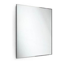 "WS Bath Collections - Speci 5661 Bathroom Wall Mirror 31.5"" x 23.6"" - Speci by WS Bath Collections, Wall Bathroom Mirror with Stainless Steel Frame"