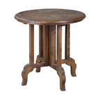 "Uttermost - Wood Imber 31.5""W Solid Fir Accent Table - Wood Imber 31.5""W Solid Fir Accent Table"