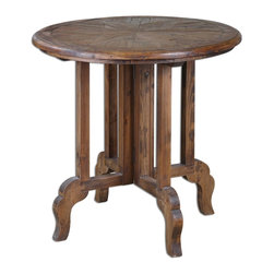 "Joshua Marshal - Wood Imber 31.5""W Solid Fir Accent Table - Wood Imber 31.5""W Solid Fir Accent Table"