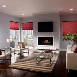 Remote Controlled Shades - Serena Honeycomb Shades by Lutron