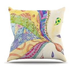 """Kess InHouse - Catherine Holcombe """"The Painted Quilt"""" Throw Pillow (Outdoor, 16"""" x 16"""") - Decorate your backyard, patio or even take it on a picnic with the Kess Inhouse outdoor throw pillow! Complete your backyard by adding unique artwork, patterns, illustrations and colors! Be the envy of your neighbors and friends with this long lasting outdoor artistic and innovative pillow. These pillows are printed on both sides for added pizzazz!"""