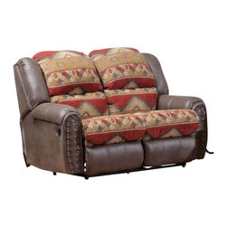 Chelsea Home Furniture - Chelsea Home Yuma Reclining Loveseat in Canyon Bay Sienna - Tuscan Espresso - Yuma Reclining loveseat in Canyon Bay Sienna - Tuscan Espresso belongs to the Chelsea Home Furniture collection .